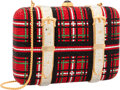 "Luxury Accessories:Bags, Judith Leiber Full Bead Red & Black Crystal Tartan TrunkMinaudiere Evening Bag. Excellent Condition. 6"" Width x4"" He..."