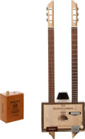 Musical Instruments:Acoustic Guitars, Cigar Box with Amp Handcrafted Guitar Proceeds Benefit the AustinDisaster Relief Network...