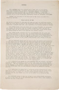Books:Manuscripts, Edgar Rice Burroughs [1875-1950, American novelist]. Signed Contract for The First Trade Edition of Tarzan and the Ant M...