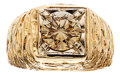 Estate Jewelry:Rings, Gentleman's Colored Diamond, Gold Ring. ...