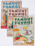 Golden Age (1938-1955):Miscellaneous, Famous Funnies Group of 10 (Eastern Color, 1937-41) Condition: Average GD/VG.... (Total: 10 Comic Books)