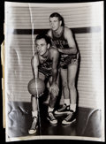 Basketball Collectibles:Photos, 1950's Bob Cousy and Ernie Barrett Original Photograph....