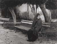 Manuel Carrillo (Mexican, 1906-1989) Woman on a Bench, 1960 Gelatin silver 9-1/4 x 12 inches (23