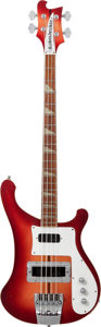 Musical Instruments:Bass Guitars, 1975 Rickenbacker 4001 Fireglo Electric Bass Guitar, Serial # OJ 6619....
