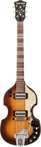 Musical Instruments:Electric Guitars, 1967 Hofner Beatle 459VTZ Sunburst Solid Body Electric Guitar,Serial # 78385....