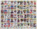 Football Cards:Sets, 1977 Topps Football Proof Sheet Including Payton. ...