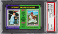 Baseball Cards:Singles (1970-Now), 1975 Topps Mini 1970 MVP's Powell/Bench #208 PSA Gem Mint 10 - Pop Three! ...