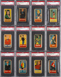 """Non-Sport Cards:Sets, 1953 R757 Welch/Sugar Daddy """"Famous Comic Characters"""" PSA-GradedComplete Set (50)...."""