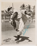 Baseball Collectibles:Photos, Late 1940's Schoolboy Rowe Signed Photograph....