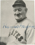 "Baseball Collectibles:Photos, 1936 Honus Wagner Signed National Chicle ""Fine Pen"" Photograph...."