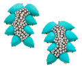 Estate Jewelry:Brooches - Pins, Turquoise, Diamond, Gold Brooches. ...