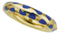 Estate Jewelry:Bracelets, Lapis Lazuli, Gold Bracelet, Angela Cummings for Tiffany & Co.. ...