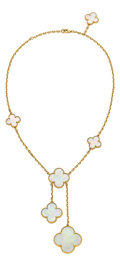 Estate Jewelry:Necklaces, Mother-of-Pearl, Gold Necklace, Van Cleef & Arpels. ...