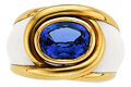 Estate Jewelry:Rings, Tanzanite, Enamel, Gold Ring, A. Clunn. ...