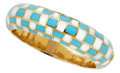Estate Jewelry:Bracelets, Mother-of-Pearl, Turquoise, Gold Bracelet, Angela Cummings for Tiffany & Co.. ...