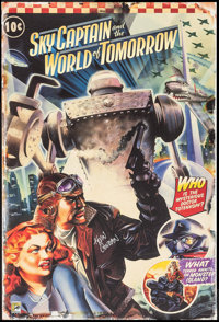 """Sky Captain and the World of Tomorrow (Brooklyn Films, 2004). Autographed Comic-Con Exclusive Print (25"""" X 37""""..."""