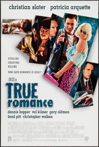 "True Romance (Warner Brothers, 1993). One Sheet (27"" X 40"") DS. Crime"