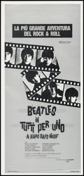 "Movie Posters:Rock and Roll, A Hard Day's Night (Giangifilm, R-1982). Italian Locandina (13"" X27.5""). Rock and Roll.. ..."
