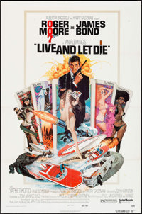 "Live and Let Die (United Artists, 1973). One Sheet (27"" X 41""). James Bond"