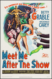 "Meet Me After the Show (20th Century Fox, 1951). One Sheet (27"" X 41""). Comedy"