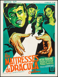 "Brides of Dracula (Universal International, R-1960s). French Affiche (23.5"" X 31.5""). Horror"