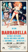 "Movie Posters:Science Fiction, Barbarella (Paramount, 1968). Trimmed Italian Locandina (13"" X24""). Science Fiction.. ..."