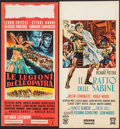 "Movie Posters:Adventure, Legions of the Nile & Other Lot (20th Century Fox, 1960).Italian Locandinas (2) (12.25"" X 26.75"" & 13"" X 27.5"").Adventure.... (Total: 2 Items)"
