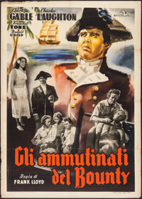 "Mutiny on the Bounty (MGM, R-1948). Italian 2 - Fogli (39.25"" X 55""). Academy Award Winners"