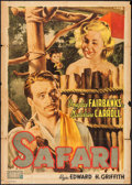 "Movie Posters:Adventure, Safari (Zeus Film, Late 1940s). First Post-War Release Italian 2 -Foglio (39"" X 55.25""). Adventure.. ..."