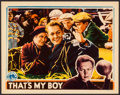 """Movie Posters:Sports, That's My Boy (Columbia, 1932). Lobby Card (11"""" X 14""""). Sports.. ..."""