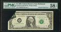 Error Notes:Foldovers, Fr. 1914-E $1 1988 Federal Reserve Note. PMG Choice About Unc 58EPQ.. ...