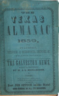 Books:Americana & American History, The Texas Almanac for 1859 With Statistics, Historical andBiographical Sketches &c., Relating to Texas. Galveston:Rich...