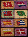 Non-Sport Cards:Lots, C. 1912 B6-2 National Flags Blankets Collection (16). ...