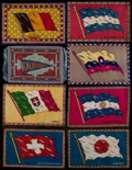 "Non-Sport Cards:Lots, C. 1912 B6-1, B6-3, B7 and B32 ""National Flags"" Blankets Collection(16). ..."