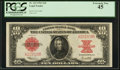 Large Size:Legal Tender Notes, Fr. 123 $10 1923 Legal Tender PCGS Extremely Fine 45.. ...