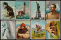 Non-Sport Cards:Sets, 1910's Hassan T30 Arctic Scenes, T73 Indian Life..., T77 LightHouse and T118 Great Explorers Near Sets (4). ...