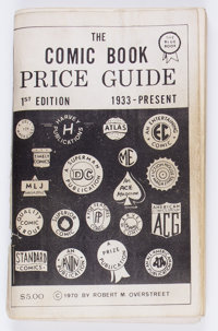 Overstreet Price Guide #1 First Print (Gemstone, 1970) Condition: GD