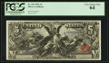 Large Size:Silver Certificates, Fr. 269 $5 1896 Silver Certificate PCGS Very Choice New 64.. ...