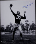 Football Collectibles:Photos, Slinging Sammy Baugh Signed Oversized Photograph....