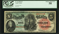 Large Size:Legal Tender Notes, Fr. 64 $5 1869 Legal Tender PCGS Choice About New 58.. ...