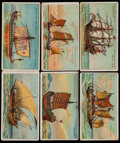 "Non-Sport Cards:Singles (Pre-1950), 1900 T418 American Tobacco Co. ""Old and Ancient Ships"" 1st &2nd Series Complete Set (50)...."