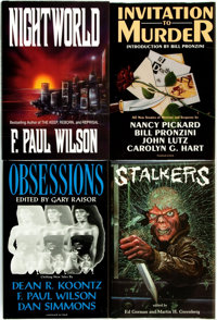 [Horror & Supernatural]. Group of Four SIGNED/LIMITED Anthologies. Various publishers and dates