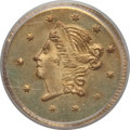California Fractional Gold , 1859 50C Liberty Round 50 Cents, BG-1002, High R.4, MS65 PCGS. PCGSPopulation (7/3). NGC Census: (5/5). ...