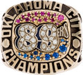 Baseball Collectibles:Others, 1992 Bobby Murcer Oklahoma City 89ers Championship Ring from TheBobby Murcer Collection. ...