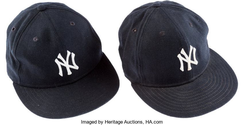 53c3f904 ... Baseball Collectibles:Others, 1970's-90's New York Yankees Game Worn  Caps Lot ...