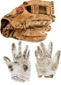 Baseball Collectibles:Others, Circa 1977 Bobby Murcer Game Used Fielder's Glove from The BobbyMurcer Collection. ...