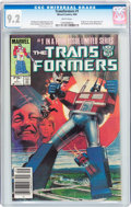 Modern Age (1980-Present):Superhero, Transformers #1 (Marvel, 1984) CGC NM- 9.2 White pages....