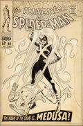 Original Comic Art:Covers, John Romita Sr. Amazing Spider-Man #62 Cover Original Art (Marvel, 1968)....