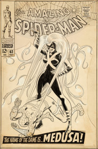 John Romita Sr. Amazing Spider-Man #62 Cover Original Art (Marvel, 1968)