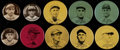 Baseball Cards:Singles (1930-1939), 1910's - 1930's P2 and PX3 Baseball Pins Collection (19) - With Cobb. ...